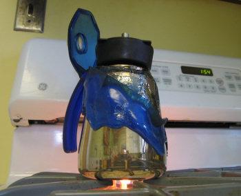 flaming coffee pot #2
