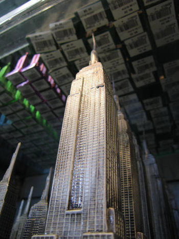 Looking up at Empire State Building model